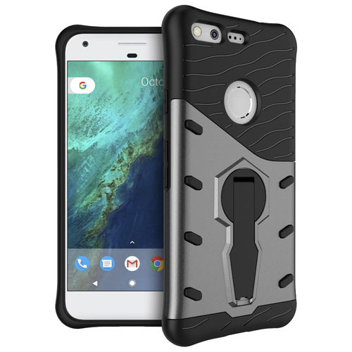 Slim Shield Tough Shockproof Case for Google Pixel Phone - Grey